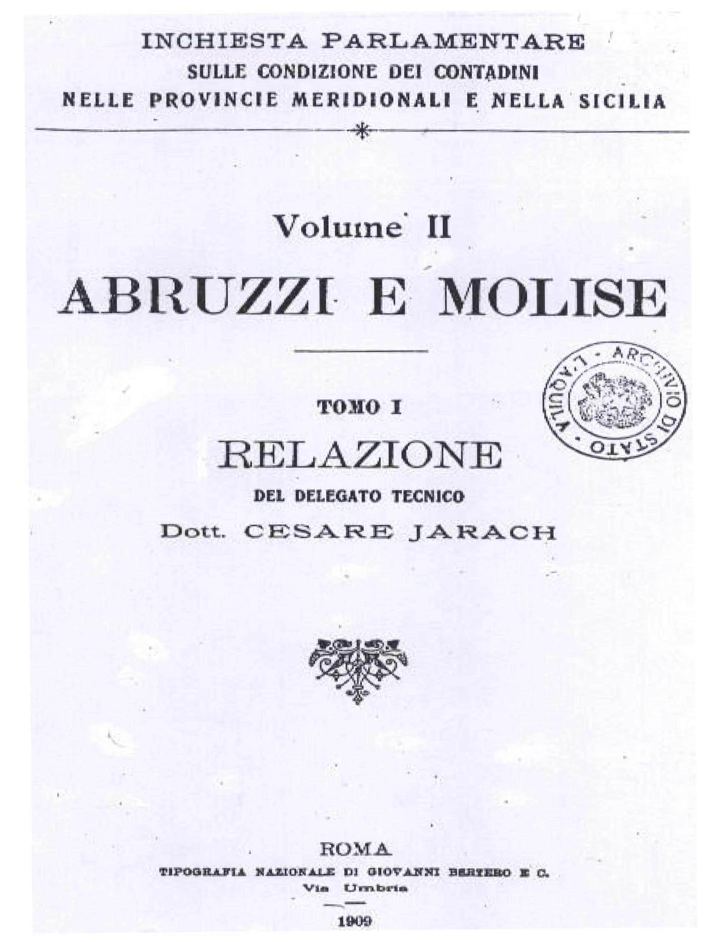 nota storica 1909-1